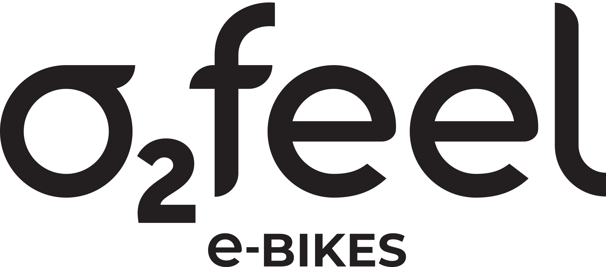 The O2feel e-bikes logo